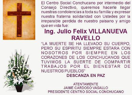 FALLECIO  EL ING. VILLANUEVA DE SIHUAS