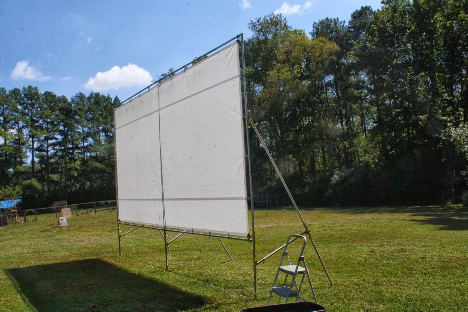 my barefoot farm portable outdoor movie screen