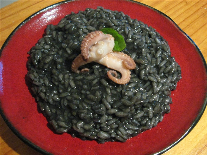 Risotto'' With Squid, Shrimp, And Curry Leaves Recipe ...