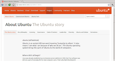 Ubuntu means: 'humanity to others'