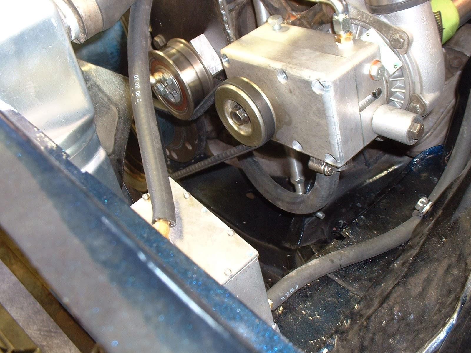 our first hand made belt driven supercharger
