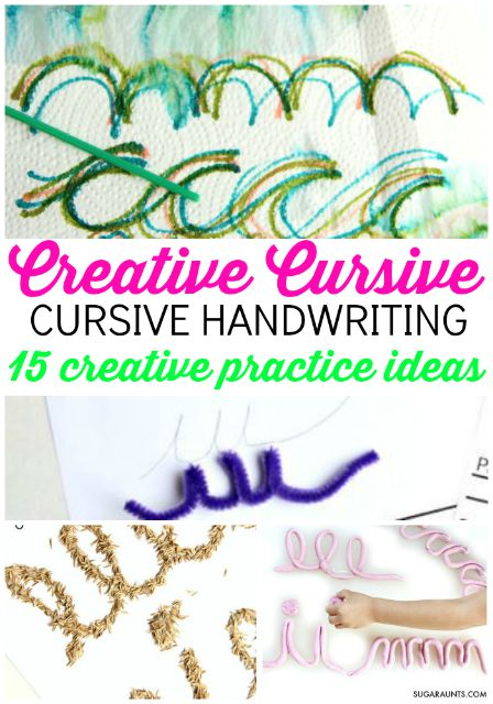 learn to write cursive with a creative cursive handwriting