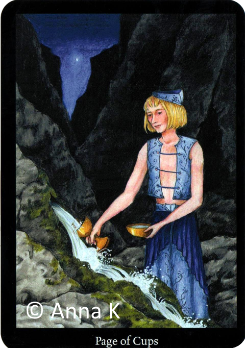 Anna K Tarot,Page of Cups