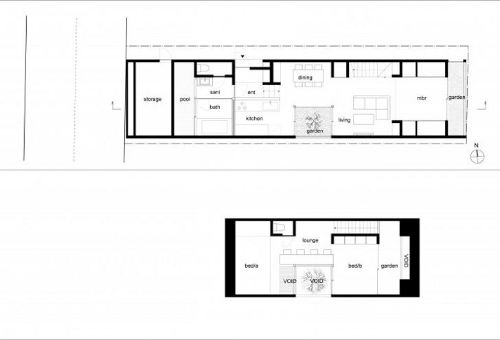 Faiz rahman rumah segitiga for Plan arkitek