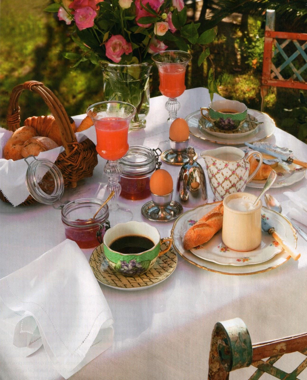 Un jardin en provence a provence breakfast desde my for Brunch jardin