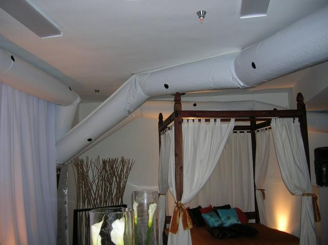 This Sidram custom air duct fits seamlessly into the decor for this special event. & Sidram Power: Custom Air Conditioner Setup