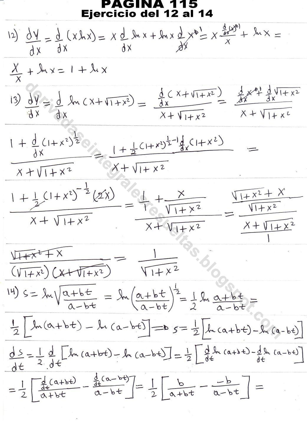 derivadas trigonometricas ejercicios resueltos pdf