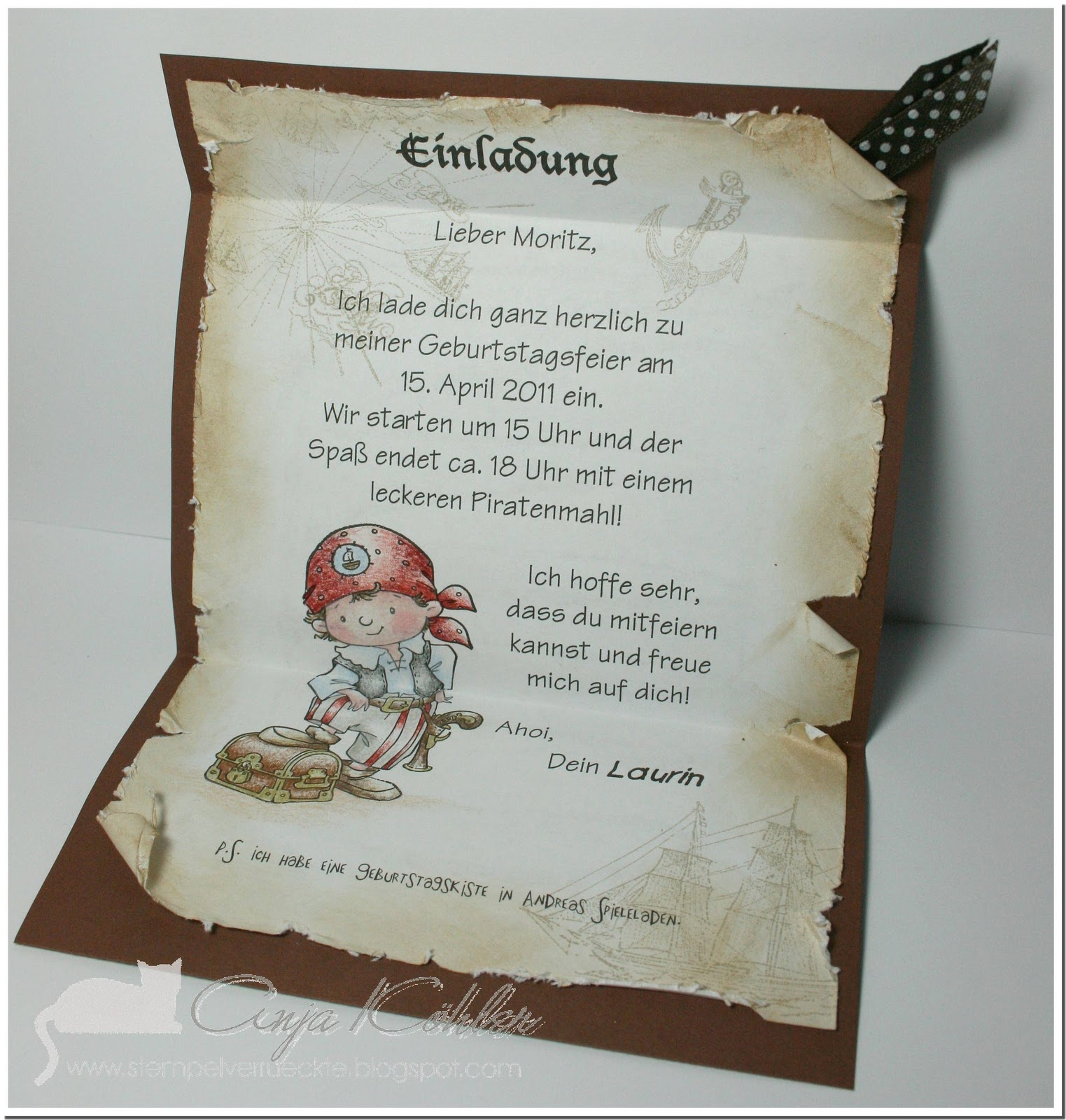 Piraten Einladung/Pirates Invitation