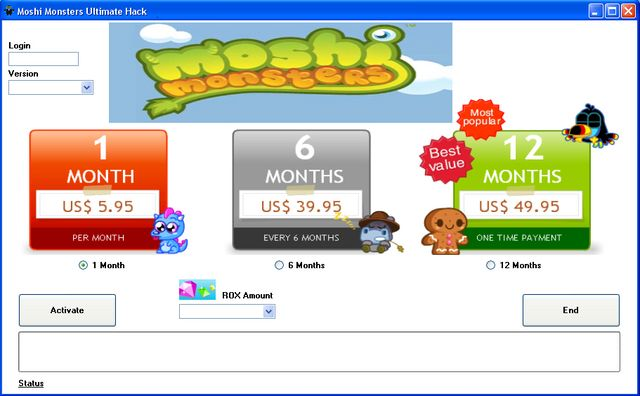 moshi monsters membership generator free download