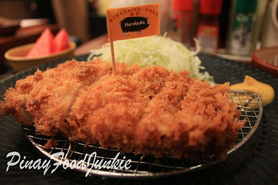 Close up of Yabu kurobuta tonkatsu