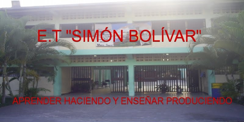 """Escuela Técnica Robinsoniana """"Simón Bolívar"""""""