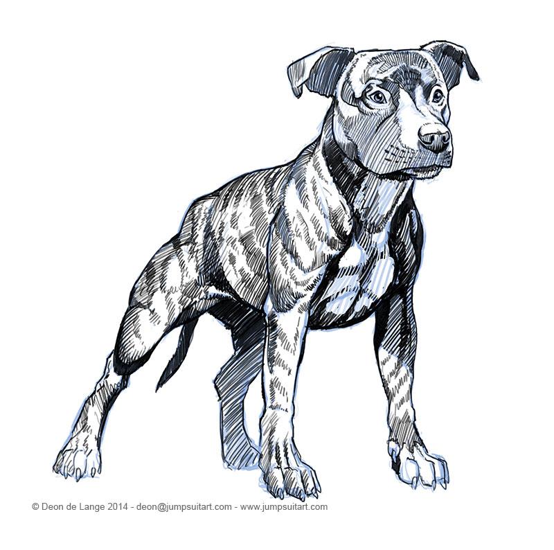 The Art of Deon de Lange: Drawing Dogs