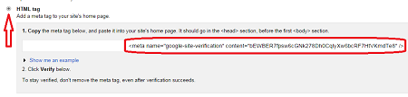 choose HTML meta tag