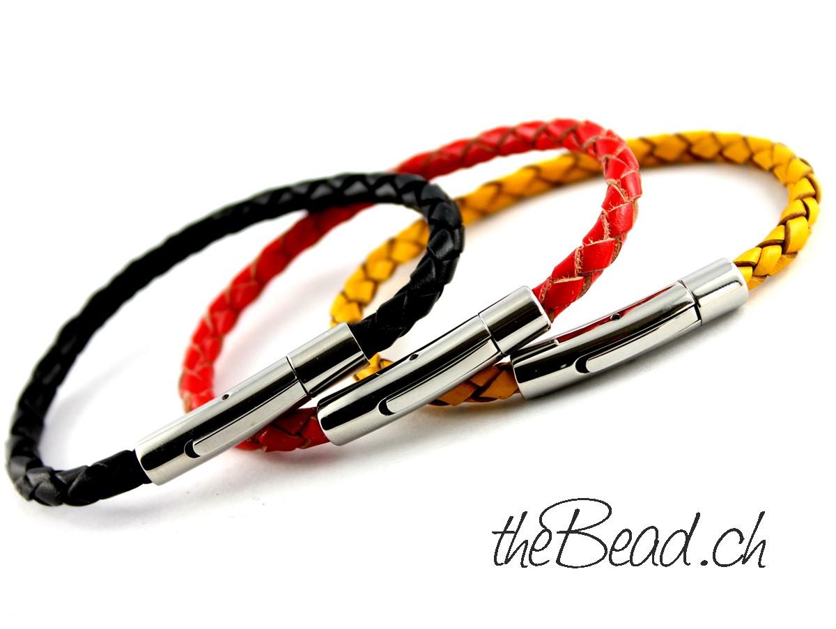 Weltmeister 2014 schwarz rot gold Armbänder bei www.thebead.ch
