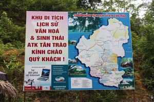 Map at Tân Trào historical site