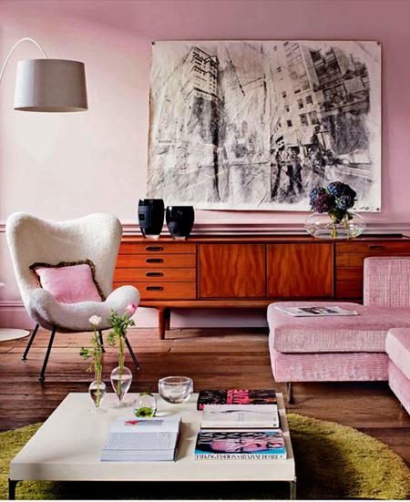 Wohnen in Rosa und Pink - im Midcentury Stil