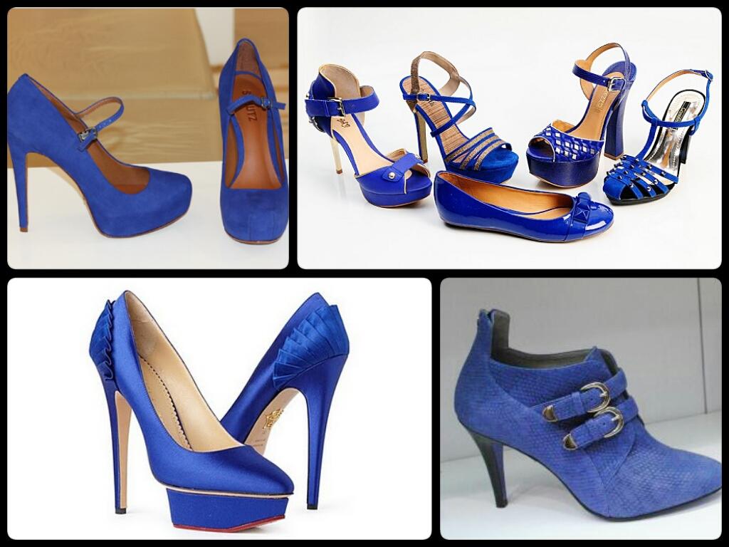 azul klein sandálias