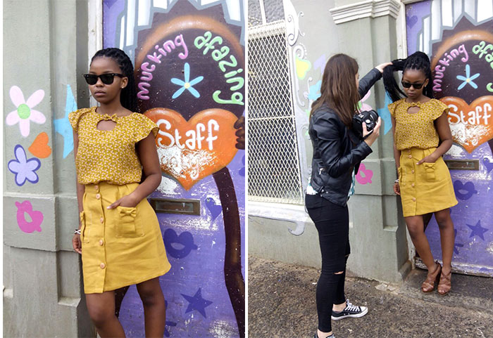 La Böcöque. Aventuras en Sudáfrica. blusa dijon. falda honey