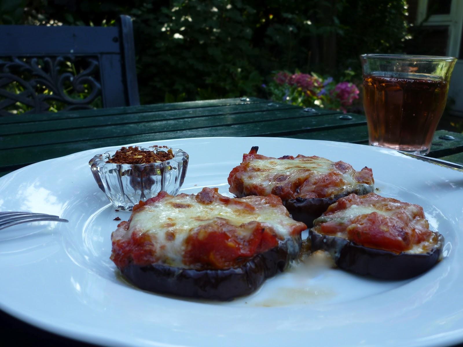 Wat ik gegeten heb: Julia Child's Aubergine Pizza's