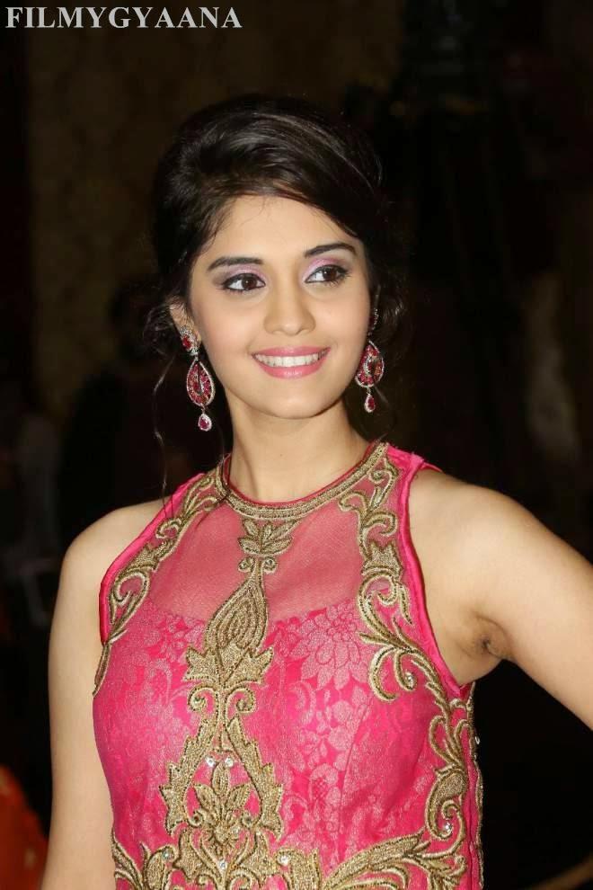 surabhi hot photos in pink dress