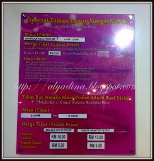 Ticket Melaka River Pirate Park