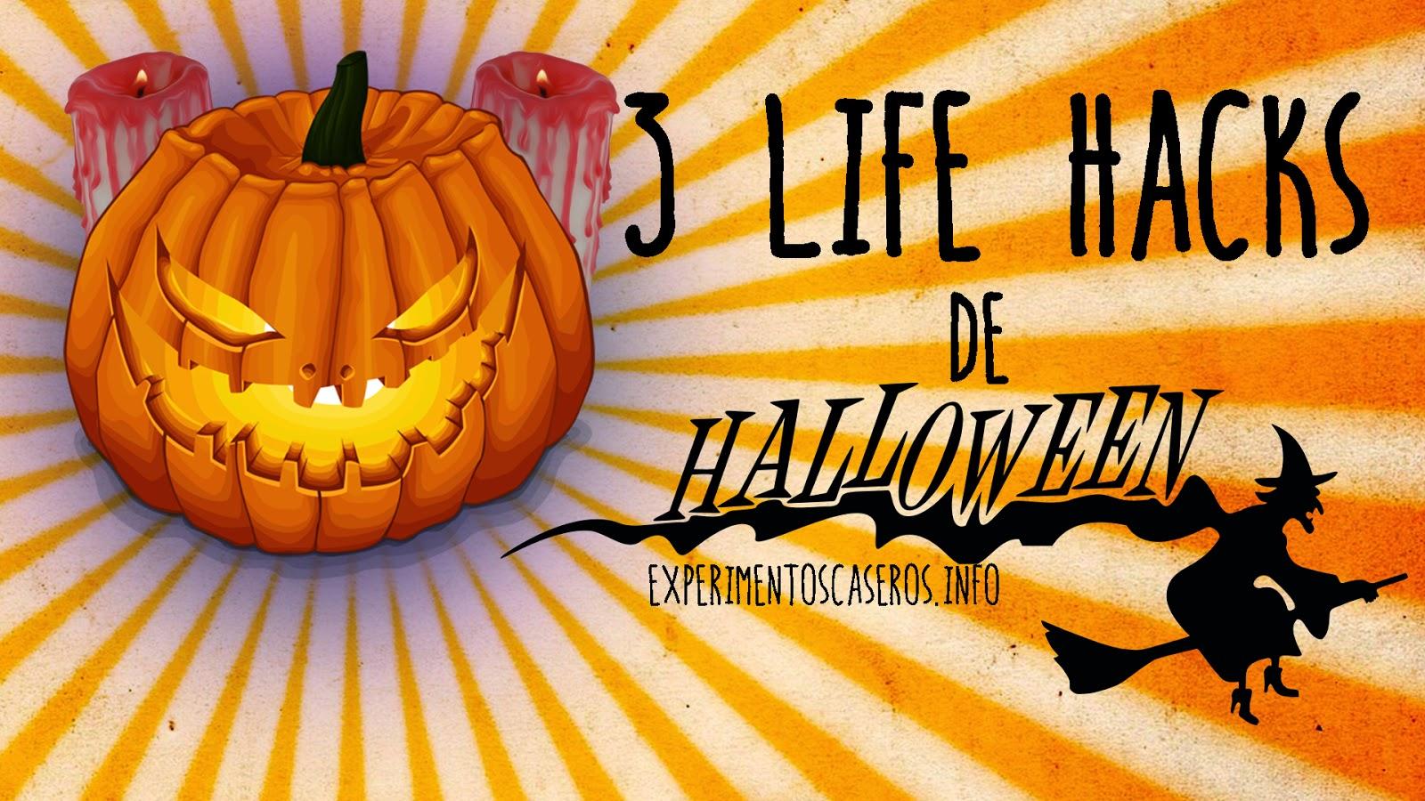 3 Life hacks para Halloween, life hacks, hacks en la vida real, halloween, decoración para halloween, vela sangrienta, tarro, aceite, foto, globo luminoso, glow stick, experimentos caseros, experimentos sencillos, fiesta de halloween