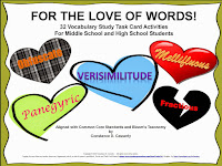 Vocabulary Lessons grades 6-12