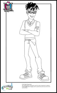 monster high boys jackson jekyll coloring pages