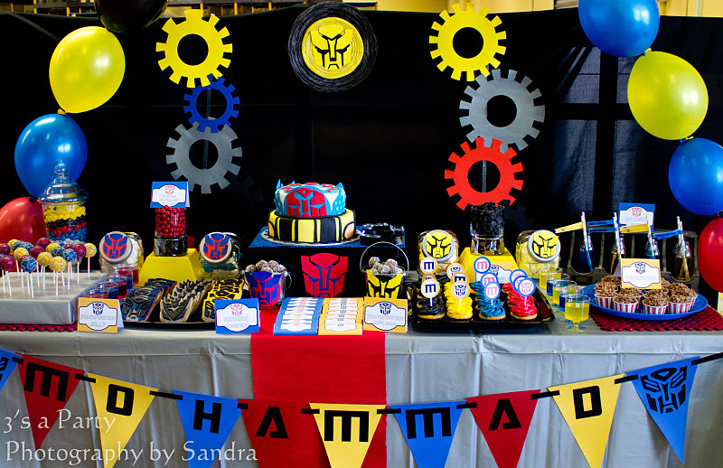 Karas Party Ideas Transformers Birthday Party  Karas Party Ideas