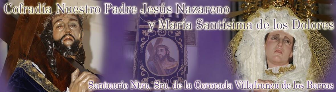 COFRADIA NTO.PADRE JESUS NAZARENO Y MARIA SANTISIMA DE LOS DOLORES