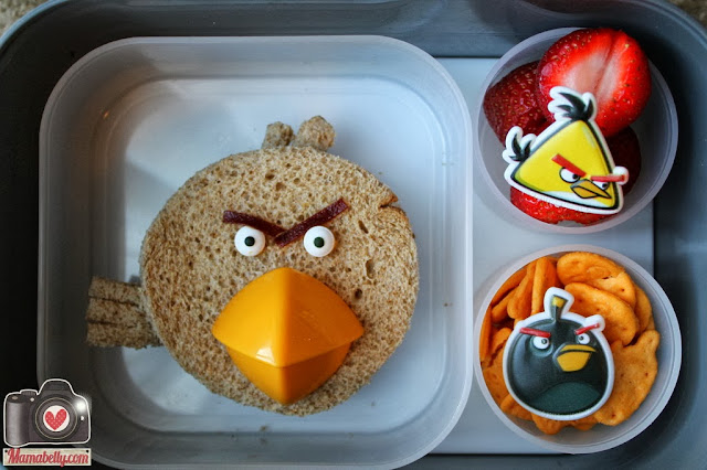 Red Angry Bird Lunch in our yubo lunchbox - www.mamabelly.com