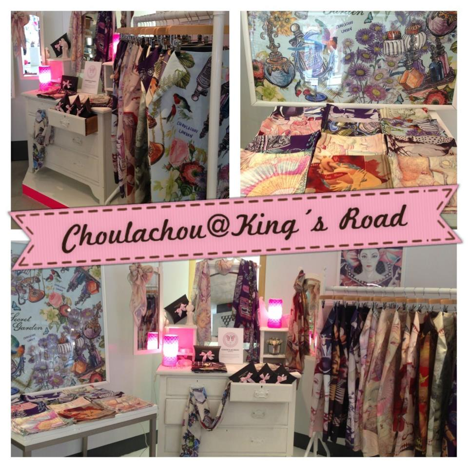 scarves, king's road, accessories,printed scarves,
