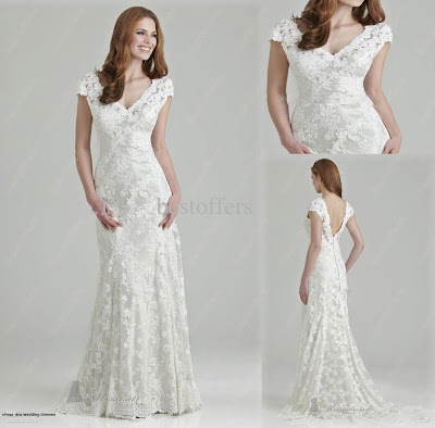 cheap lace wedding dresses