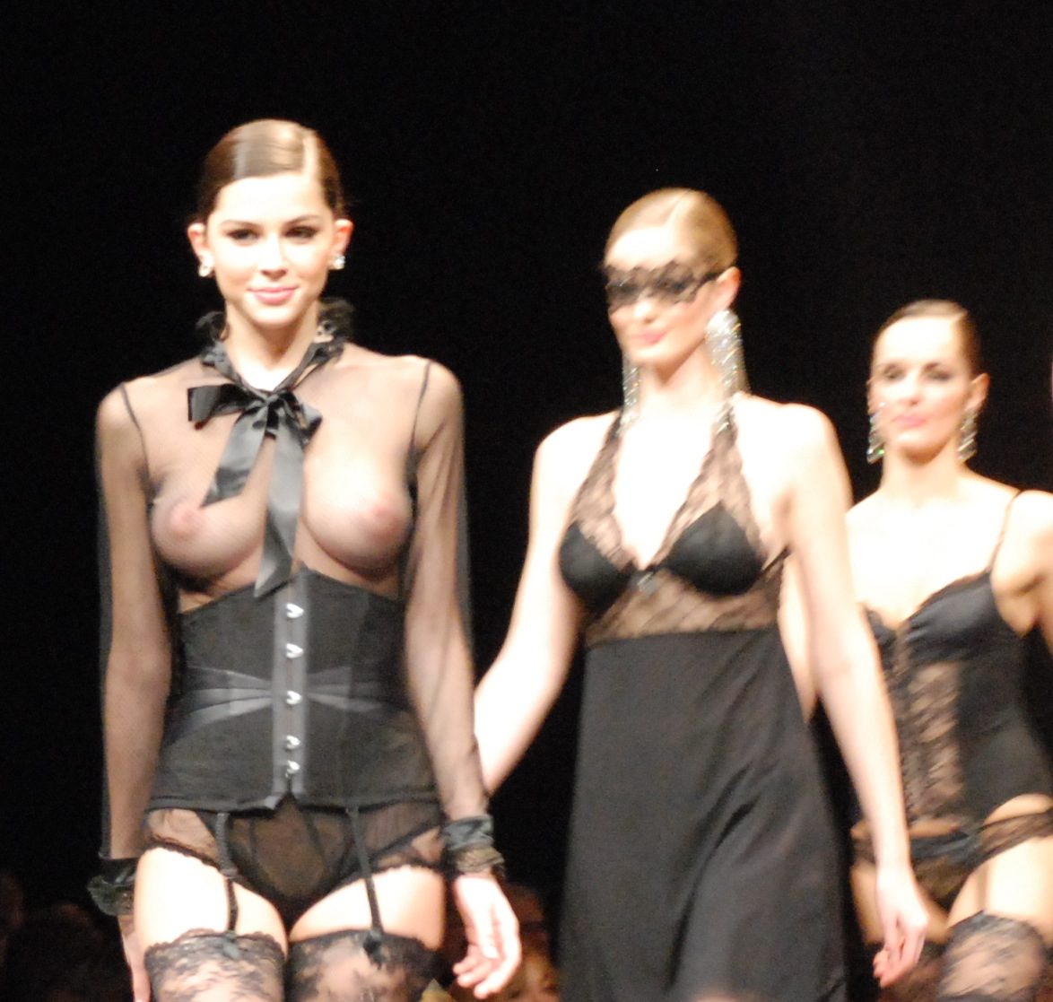Lingerie see shows through fashion