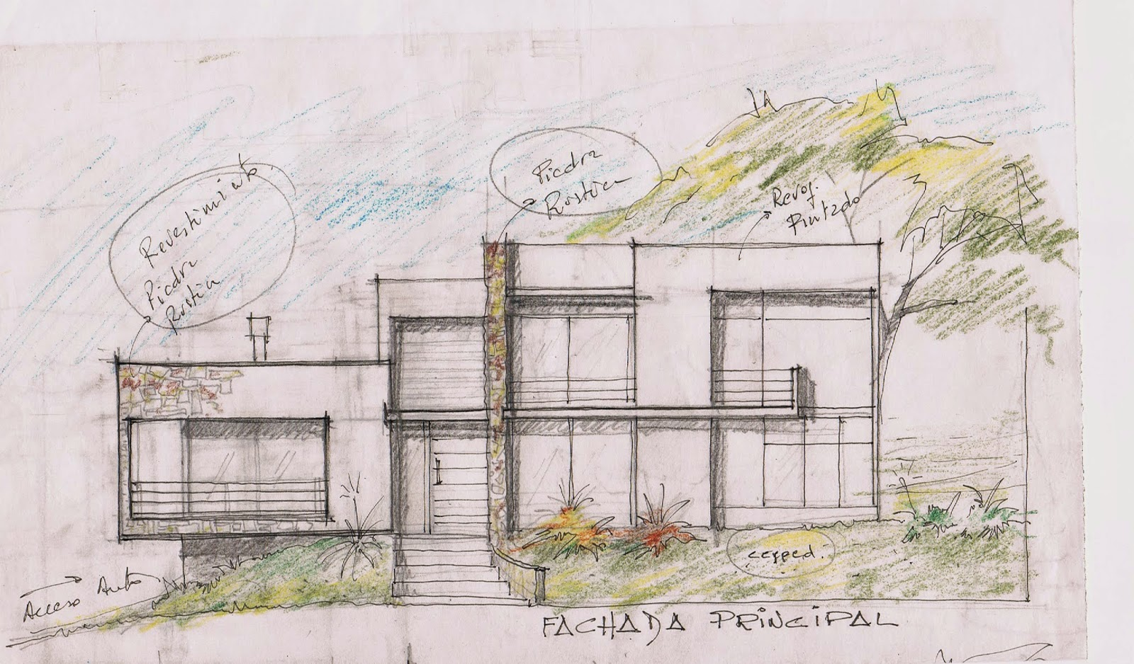 Casa en barrio jardin arquitecto roque e paulino - Interiorismo de casas ...
