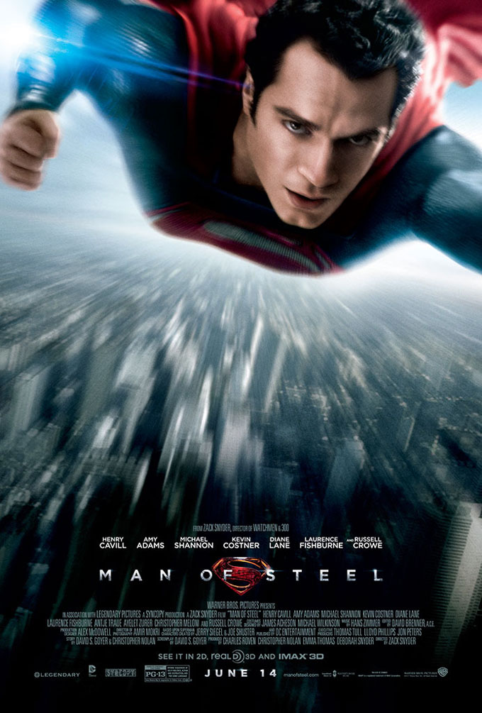Movie Poster Critic: New Man of Steel poster released