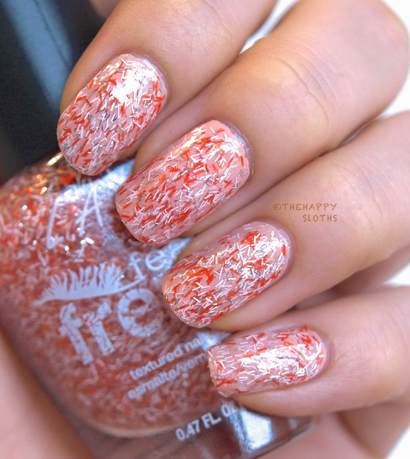 La Girl Feather Frenzy Nail Polish In Oriole And Hummingbird