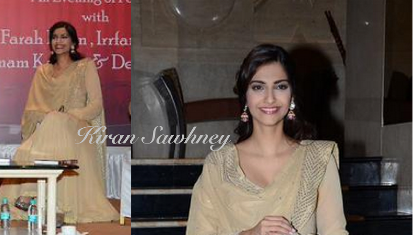 Sonam Kapoor at book launch in Abu Jani Sandeep Khosla