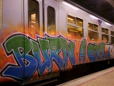 burn a car graffiti