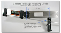 Umbrella Hole Angle Measuring  Device - Lumopro, Photec, etc