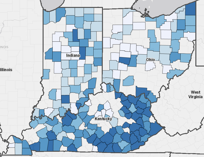HealthLandscape Mapping Tobacco Use In Ohio Kentucky