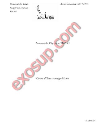 fsk cours et exercices d'Electromagnétisme smp s3