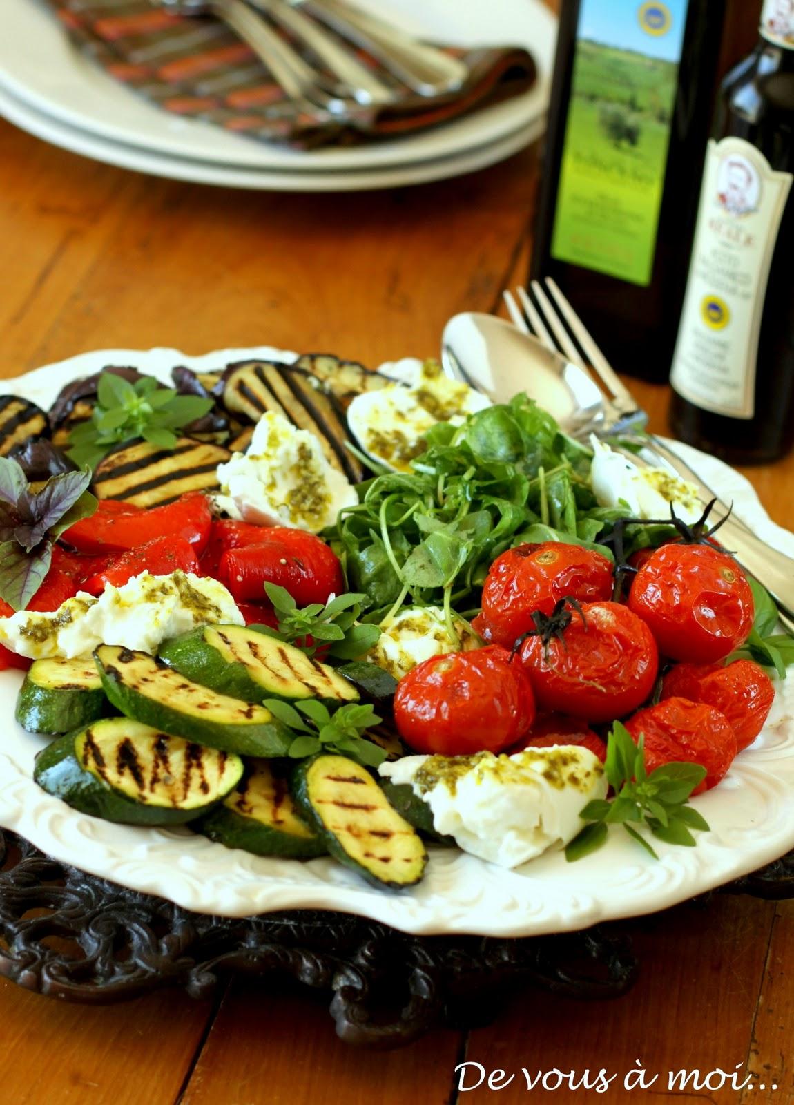 De vous moi antipasti l gumes grill s et marin s sous le charme de florence - Antipasti legumes grilles ...