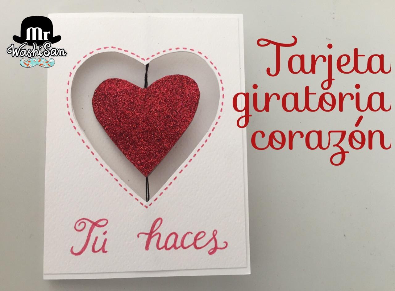 Mr WashiSan: Tarjeta corazón giratoria para San Valentín