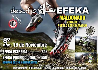 Aventura - Desafío Efeka (Pueblo Edén - Mataojo, Maldonado, 16/nov/2014)