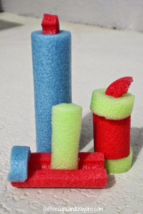 http://www.coffeecupsandcrayons.com/building-block-busy-bag-with-pool-noodles/