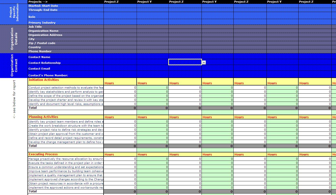rex 39 s pages sample pmp application spreadsheet v3. Black Bedroom Furniture Sets. Home Design Ideas