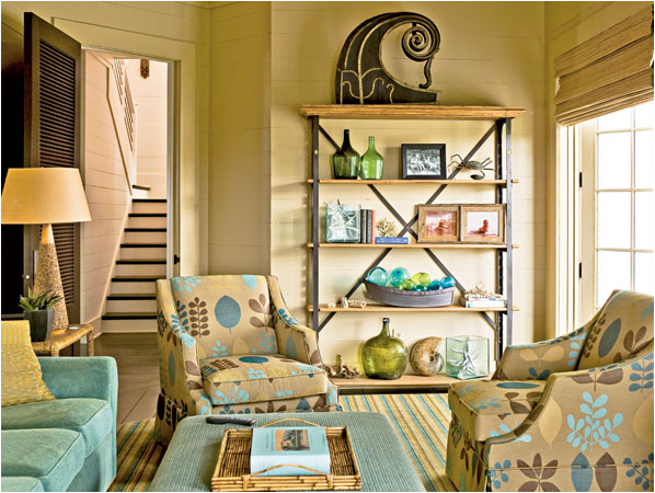 Coastal Living Room Designs and Colors