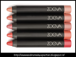 ZOEVA - Lip Crayon + -  lip crayon+ - novità news ZOEVA 2013 - recensione - review - inci - prezzo - price - reperibilità - swatch swatches - nuances - silly love - second chance
