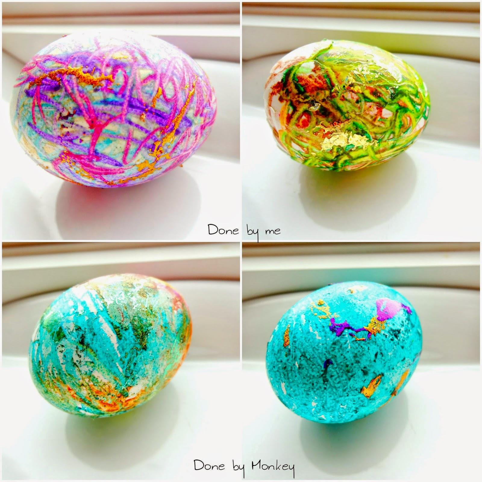 DIY Decorative Easter Eggs With Melted Crayons